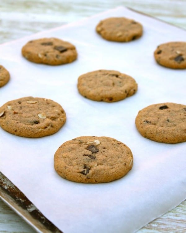 Best Almond Butter Chocolate Chunk Cookies