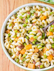 Prosciutto and Edamame Pasta with Lemon Glaze Recipe