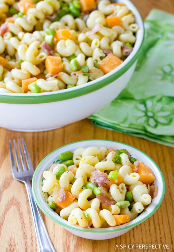 Fresh Prosciutto and Edamame Pasta with Lemon Glaze Recipe