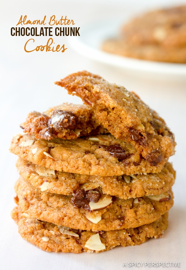 Easy Almond Butter Chocolate Chunk Cookies