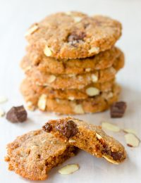 Almond Butter Chocolate Chunk Cookies | ASpicyPerspective.com