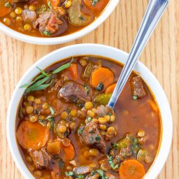 Best Beef and Lentil Stew Recipe | ASpicyPerspective.com #healthy