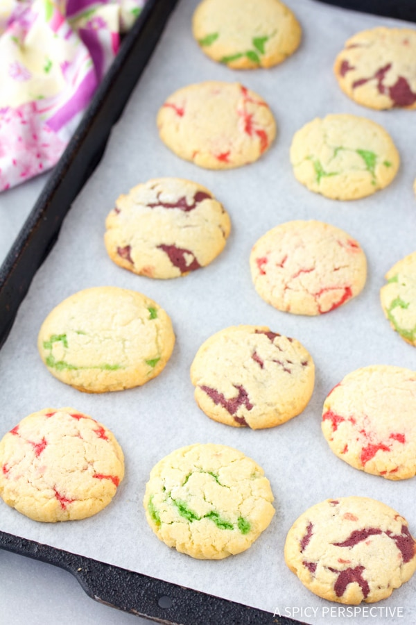 Festive Fruity Pillow Cookies Recipe #easter