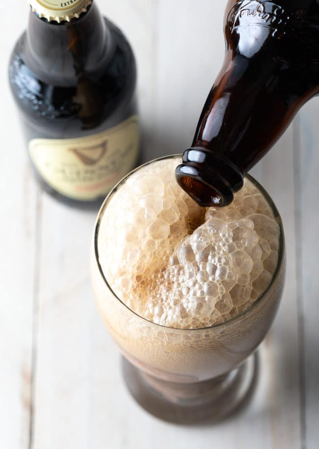 Guinness Ice Cream Floats #irish #beer #chocolate #saintpatricksday #stpaddysday