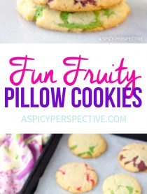 Fun Fruity Pillow Cookies Recipe #easter