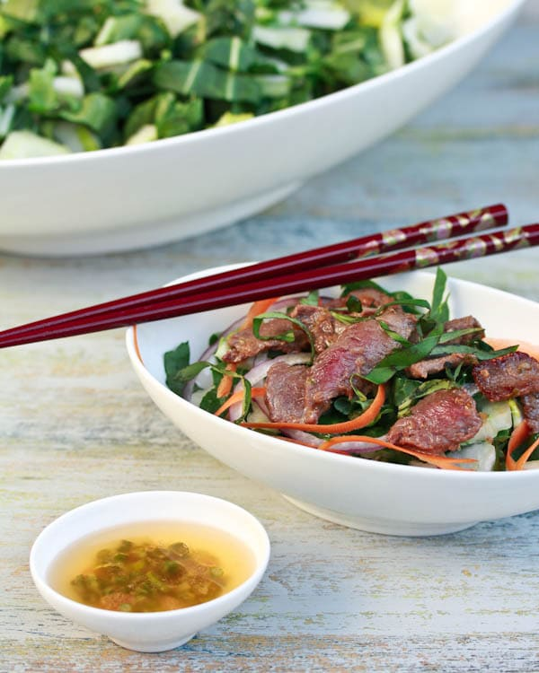 The Best Asian Beef and Bok Choy Salad