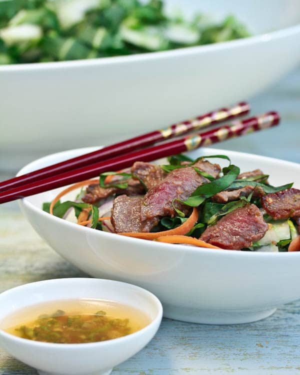 Simple Asian Beef and Bok Choy Salad
