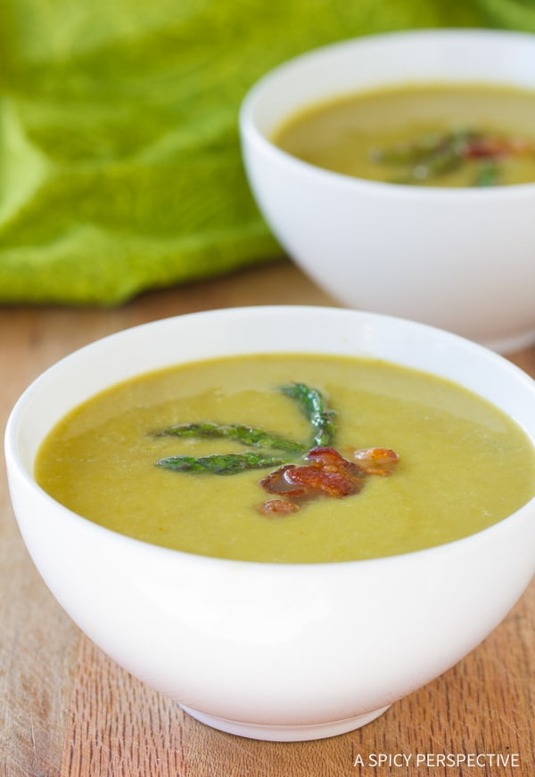 Perfect Light And Creamy Asparagus Soup Recipe #healthy #lowcarb