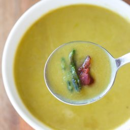 Light And Creamy Asparagus Soup Recipe #healthy #lowcarb