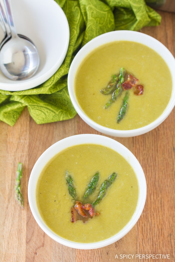 Fresh Light And Creamy Asparagus Soup