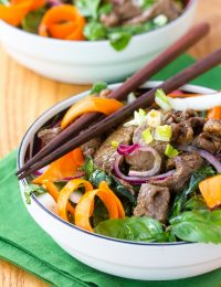 Asian Beef and Bok Choy Salad ( Low Carb & Low Fat!)