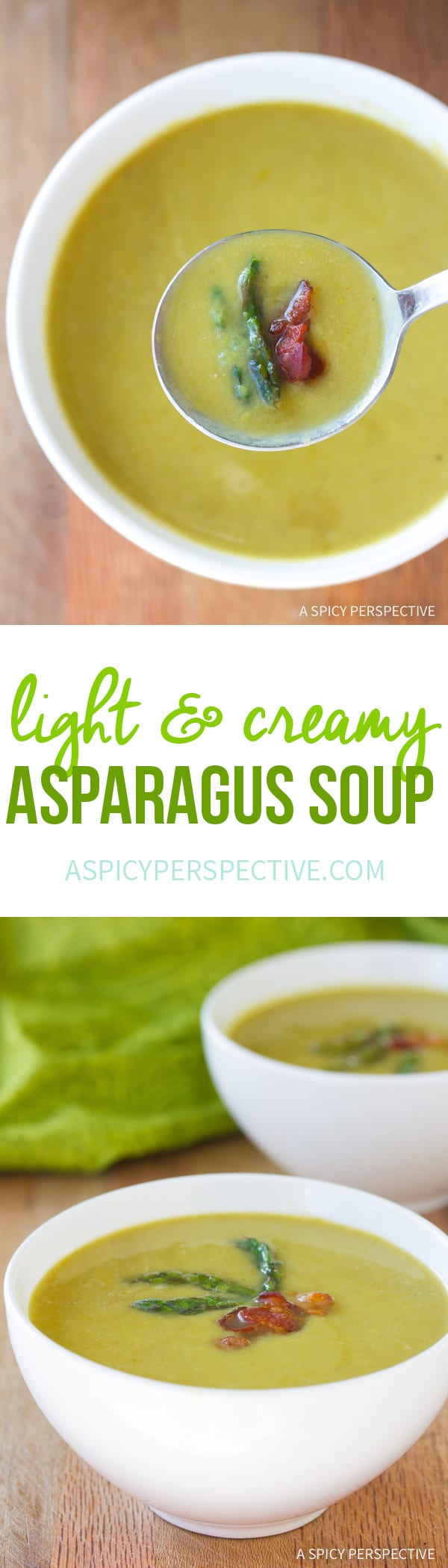 Epic! Light And Creamy Asparagus Soup Recipe #healthy #lowcarb