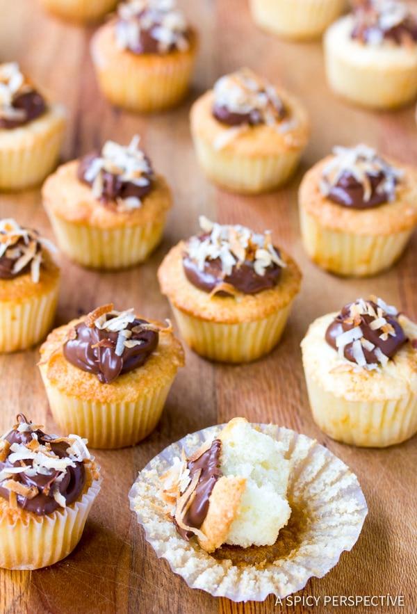 Easy Coconut Nutella Cupcakes Recipe | ASpicyPerspective.com