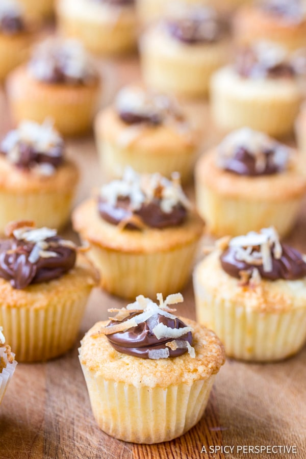 Coconut Nutella Cupcakes Recipe | ASpicyPerspective.com
