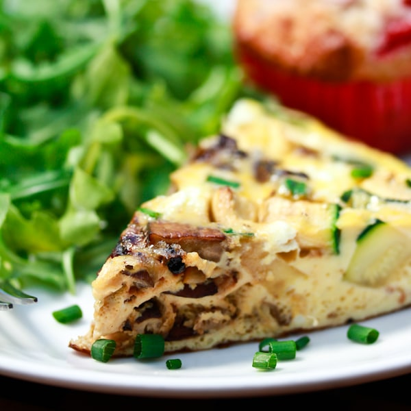 Wild Mushroom and Goat Cheese Frittata - A Spicy Perspective