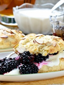 Blackberry Bourbon Shortcakes with Whiskey Cream
