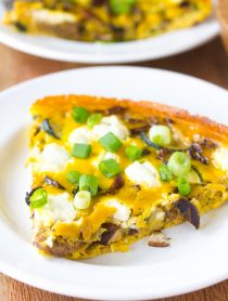 Wild Mushroom and Goat Cheese Frittata Recipe