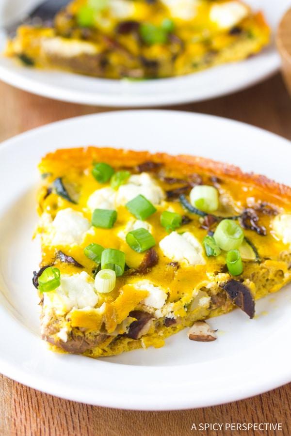 Wild Mushroom and Goat Cheese Frittata Recipe