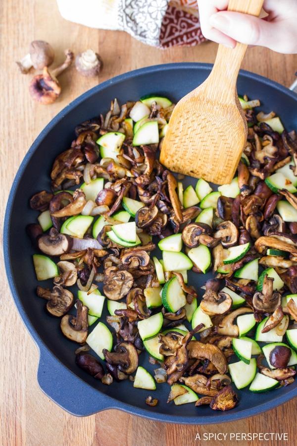 How To: Wild Mushroom and Goat Cheese Frittata Recipe