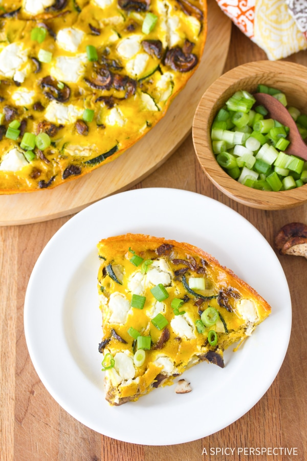 Perfect Wild Mushroom and Goat Cheese Frittata Recipe