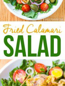 Fried Calamari Salad with Caperberries and Lemon Aioli Recipe