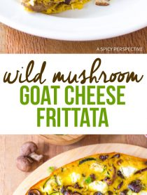 Amazing Wild Mushroom and Goat Cheese Frittata Recipe