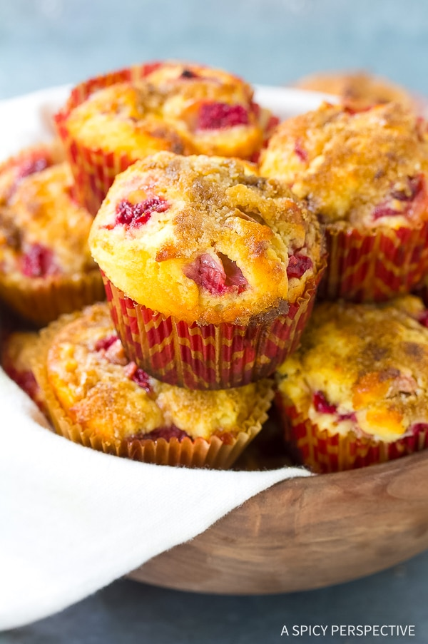 Perfect Strawberry Rhubarb Yogurt Muffins Recipe