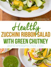 Dazzling Zucchini and Green Chutney Salad #healthy #glutenfree