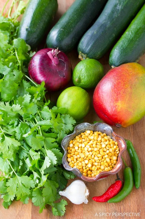 Making Zucchini and Green Chutney Salad #healthy #glutenfree