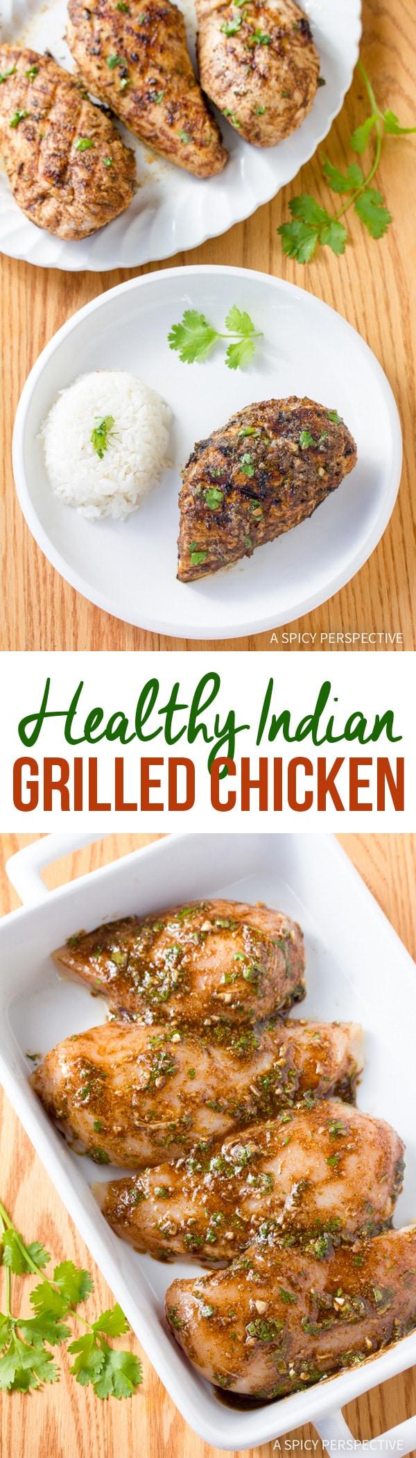 Zesty Indian Grilled Chicken #healthy #paleo #glutenfree
