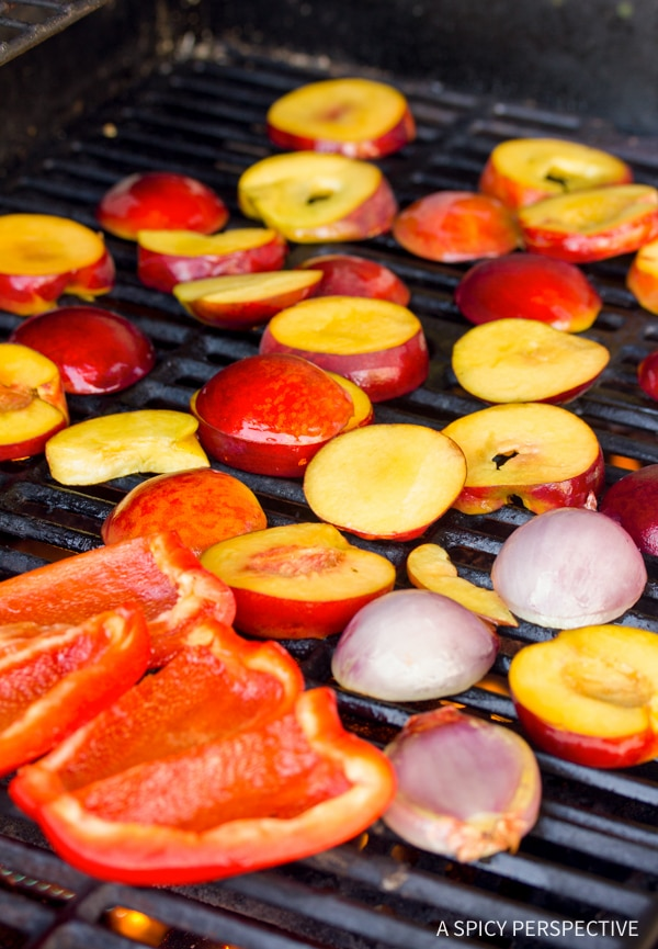 Making Grilled Chipotle Peach Salsa Recipe