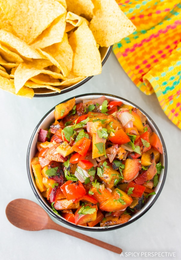 Perfect Grilled Chipotle Peach Salsa Recipe