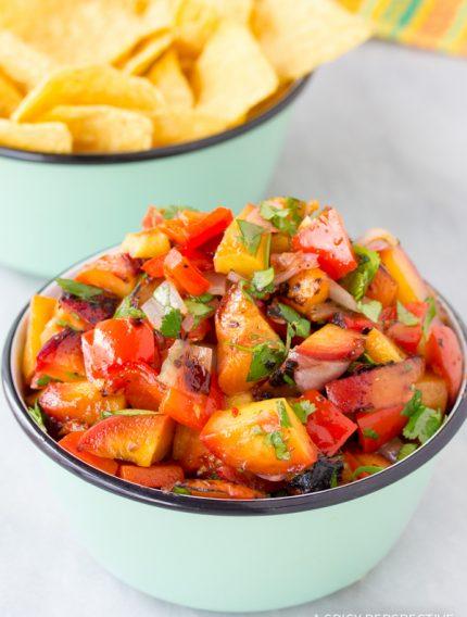 Grilled Chipotle Peach Salsa Recipe