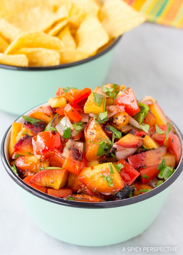 Grilled Chipotle Peach Salsa Recipe
