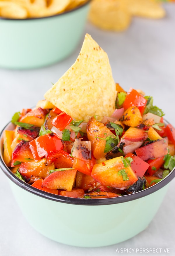 Best Grilled Chipotle Peach Salsa Recipe