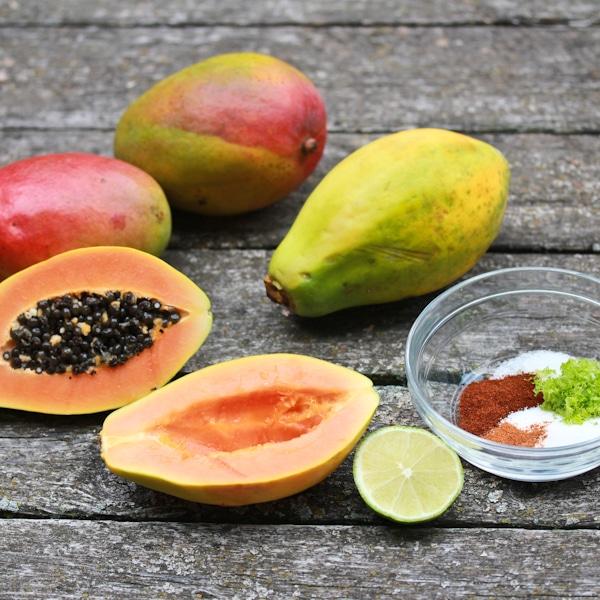 Манго и папайя картинка