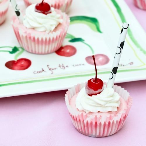 Strawberry Malt Cheesecakes
