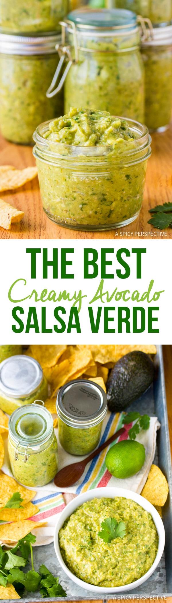 The Best Creamy Avocado Salsa Verde Recipe Ever!