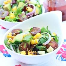 Grilled Corn Avocado Salad with Smokey Paprika Vinaigrette