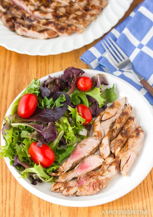 Simple Magic 2-Ingredient Grilled Pork Tenderloin #lowcarb #healthy