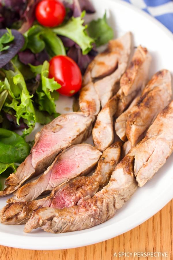 Magic 2-Ingredient Grilled Pork Tenderloin #lowcarb #healthy