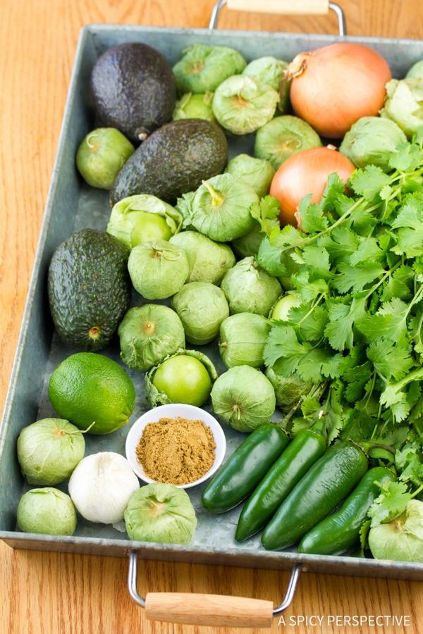 Making The Best Creamy Avocado Salsa Verde Recipe