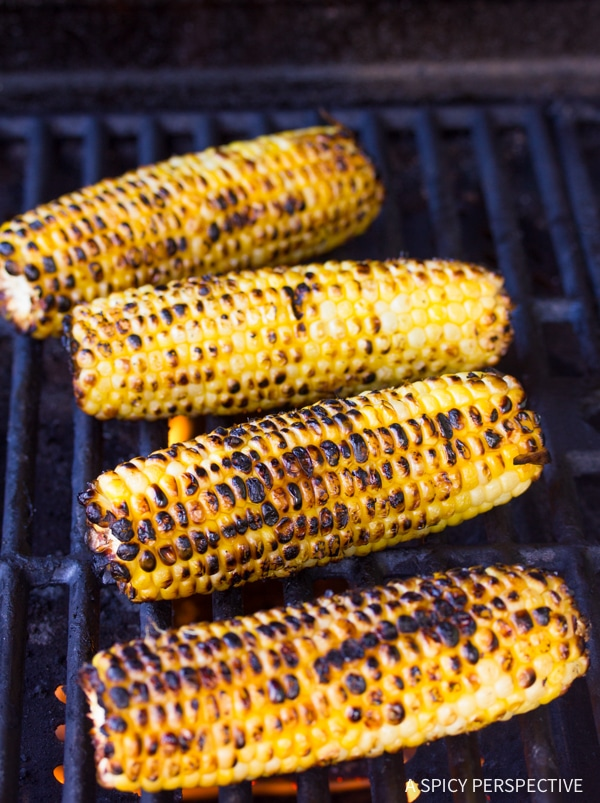 Hot Grilled Corn Salad with Smokey Vinaigrette Recipe