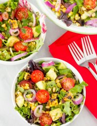 Grilled Corn Salad with Smokey Vinaigrette Recipe