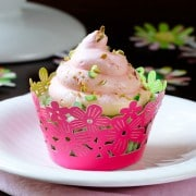 Pistachio Cupcakes Pink Champagne Frosting