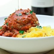 Slow Carb Spaghetti and Meatballs