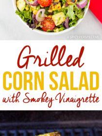 Zesty Grilled Corn Salad with Smokey Vinaigrette Recipe
