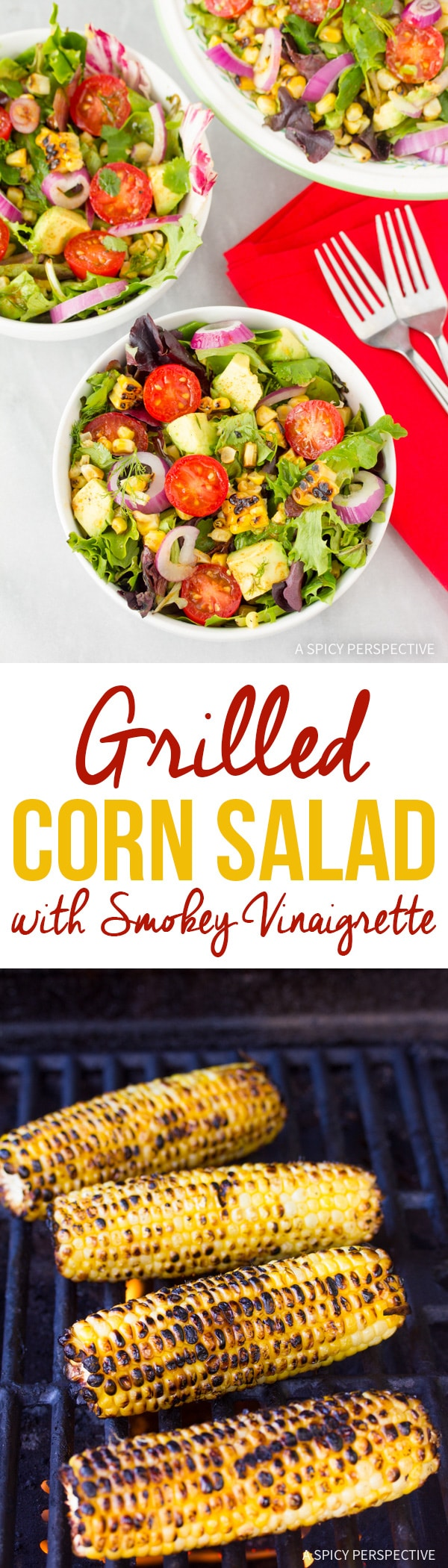Zesty Grilled Corn Salad with Smokey Vinaigrette Recipe