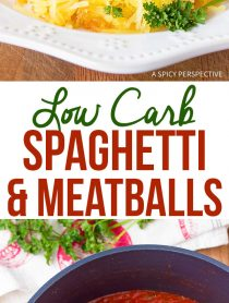 Low Carb Spaghetti and Meatballs Recipe