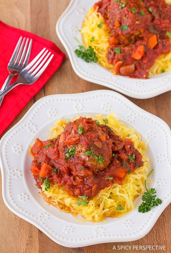 Perfect Low Carb Spaghetti and Meatballs Recipe